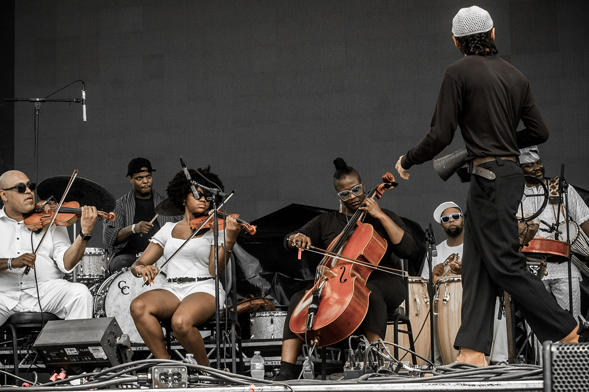 Great Black Music Ensemble at pitchfork by manny diaz